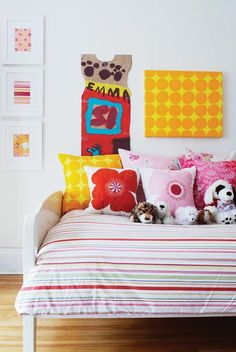 Kids have pillows on their bed. So there little heads can keep warm.