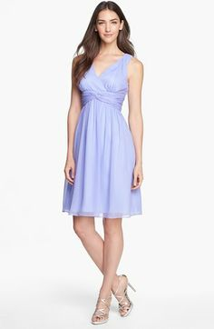 Donna Morgan 'Jessie' Twist Silk Chiffon Dress (Regular & Plus) | Nordstrom. This looks like a nice dress for Easter!