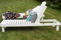 DIY - $35 Wood Chaise Lounges - I want! Preferably with lots of cushions...