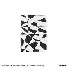 Shattered Life in Black & White Passport Holder