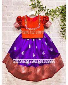 Girls Designer Dresses, Dresses Kids Girl, Kids Outfits, Kids Dress Wear, Kids Wear, Baby Dress, Baby Girl Lehenga, Kids Lehenga, Frocks For Girls