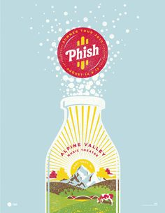 Phish poster by DKNG Studios - I was there for this show! Both nights! Phish Posters, Tour Posters, Band Posters, Concert Posters, Gig Poster, Event Posters, Design Poster, Print Design, Poster Designs