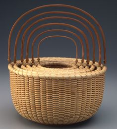 Nantucket baskets ::: Another example of these lovely baskets. Nantucket Style, Nantucket Island, Old Baskets, Wicker Baskets, Rattan, Nantucket Baskets, Trunks And Chests, Pine Needles, Brick And Stone