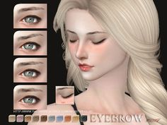 The Sims Resource: Eyebrows 33 F by S-Club • Sims 4 Downloads