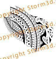 Tribal tattoo with Polynesian and Marquesan patterns #marquesantattoossymbols #marquesantribaltattoos