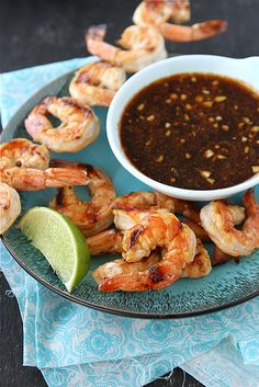 Sweet & Spicy Grilled Shrimp Recipe with Marmalade Molasses Sauce from @Cookin' Canuck Dara Michalski