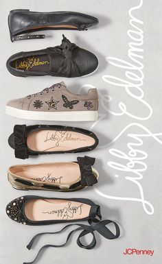 Slip on shoes and sparkly sneakers from Libby Edelman are at the top of any back to school list. Balance a black ripped jeans outfit with shoes with bows or lace up flats for a nice mix of sweet and edgy.