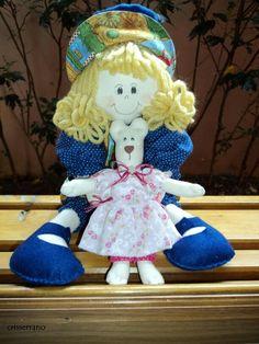 Boneca manon com  ursinho