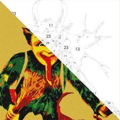 "8x8"" - Creepy Krampus - Easy 123 Art"