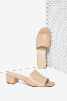 Maryam Nassir Zadeh Leather Slide Sandal - Shoes | Heels