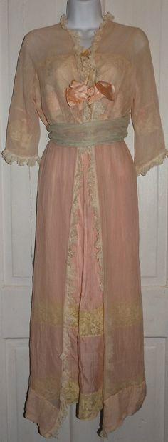 4bc57c6b8b Edwardian peignoir set that is made of pink silk. Sarah Rosen