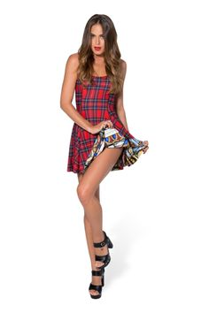 Tartan Red Vs Cathedral Inside Out Dress - LIMITED › Black Milk Clothing