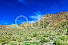 Qdiz Stock Photos Mountains landscape on Tenerife island,  #blue #Canary #cloud #day #island #landmark #landscape #mountain #national #nature #park #rock #sky #Spain #spring #summer #Teide #Tenerife #Travel #view