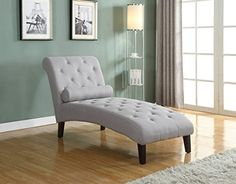 Home Life fur_c10006_grey_04_FBA Linen Chaise Lounger, Li...