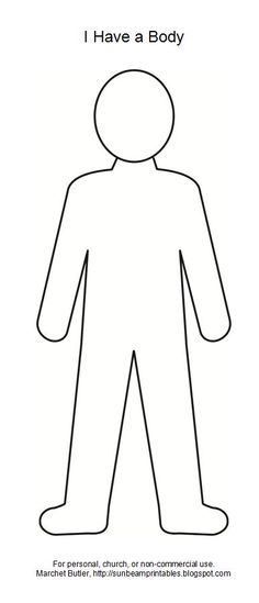 Doll Outline Template - ClipArt Best | printable | Pinterest ...