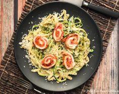 Zucchini-Spätzle-Pfanne mit Tomaten-Hähnchen-Involtini http://www.geschmacks-sinn.de/?p=2971
