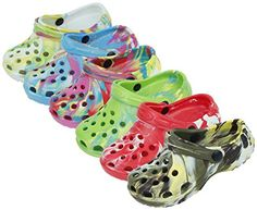 back to basics S7009 Children's Clogs Tie-Dye Camouflage Colors Kids Boys Girls Garden Beach Pool Shoes