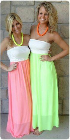Neon dresses<3