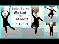 Ballet Barre Workout for Balance & Core | Kathryn Morgan - YouTube