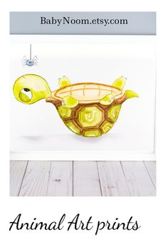 This funny wall art will put a smile on your child's face 😃. This cute watercolor turtle painting could be a great addition to any nursery or game room. Give this turtle print as a gift for a baby shower or as a birthday gift for a toddler. Small Nurseries, Baby Boy Nurseries, Girl Nursery, Nursery Decor, Baby Storage Baskets, Funny Wall Art, Turtle Gifts, Diaper Caddy, Animal Art Prints