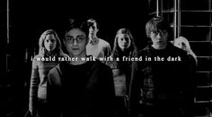 stuckwith-harry: I would rather walk with a friend in the...
