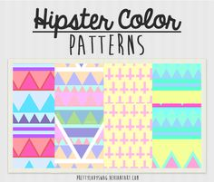 Hipster Color Patterns by PrettyLadySwag