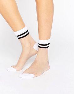 ASOS | ASOS Sheer 2 Stripe Ankle Socks