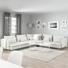 IKEA - SÖDERHAMN, Corner sofa, Finnsta white, SÖDERHAMN seating series allows you to sit deeply, low and softly with the loose back cushions for extra support. Living Room Grey, Home Living Room, Living Room Designs, Living Room Decor, White Living Room Furniture, Living Room Ideas Townhouse, Bedroom Furniture, Barn Living, Cozy Living