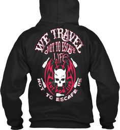 Travel Clothes । Black Hoodie Tee Shirt  Black Sweatshirt Back