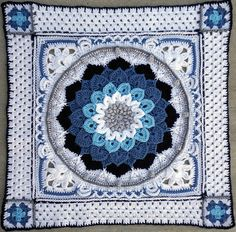 Around-the-Bases afghan is a crochet stitch sampler that turns YOUR favorite center block into an afghan.