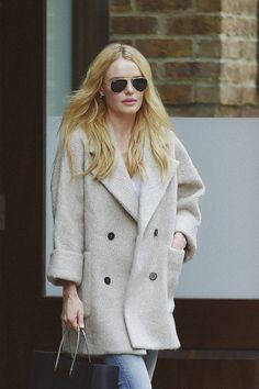 Kate Bosworth wears MiH Larking Coat Oat  http://www.mih-jeans.com/shop/the-larking-coat-oat.html