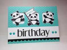 Birthday Pandas! by beesmom - Cards and Paper Crafts at Splitcoaststampers