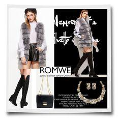 """ROMWE 3/V"" by nura-akane ❤ liked on Polyvore"