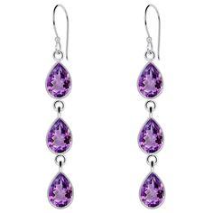Orchid Jewelry 925 Sterling Silver 1/2 Carat Amethyst Earrings for Woemen's