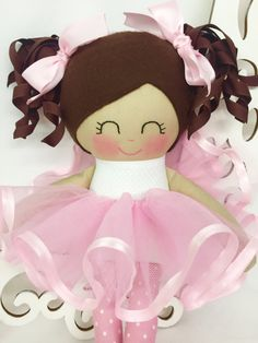 Cloth Baby Doll Ballerina doll Girl Gift by SewManyPretties