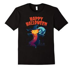 Spooky Jack o Lantern Creepy Halloween Scarecrow Costume Tee shirt, available in different colors for men , women and youth