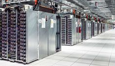 Cloud Scale: Rows and rows of server infrastructure inside the Google data center in Mayes County, Oklahoma. (Photo: Google)