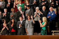On Jan. 20, 2015, Mrs. Obama wore a Michael Kors suit to the State of the Union Speech.