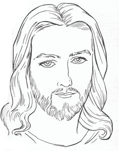 Imagenes de cristo blanco y negro - Imagui Jesus Drawings, Easy Drawings, Cool Coloring Pages, Coloring Books, Jesus Sketch, Simple Flower Drawing, Faith Hope Love Tattoo, Pictures Of Jesus Christ, Jesus Tattoo