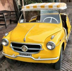 Jolly Fiat by njw28, via Flickr - I love this... would look so cute tootling around town in this car!