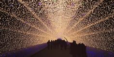 Christmas lights have been hung around the world, but few displays rival the stunning light show at Kobe Luminarie. The December light festival, held for 12 days in Kobe, Japan, was first held in 1995 in commemoration of the Great Hanshin earthquake that year.