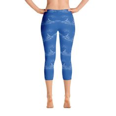 Water Pattern Sky Blue - Women's Workout Pant and Sport Capri Leggings   #deals #freeshipping #save #unique #onlinebuyer #giftsforher #giftsforhim #onlineshopping #gifts #california