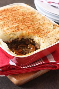 Wild mushroom and lentil shepherd's Pie Recipe. A Vegetarian version ...