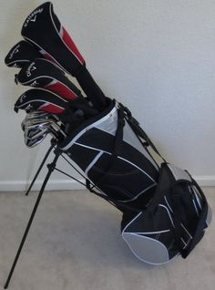 NEW Mens Callaway Complete Golf Clubs Set with Stand Bag Driver, 3 and 5 woods, Hybrid, Irons, Sand Wedge, Putter Right Handed by Callaway, http://www.amazon.co.uk/dp/B00CGRV9JQ/ref=cm_sw_r_pi_dp_UOuIsb1J6RQN0
