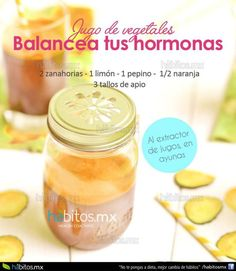 JUGO DE VEGETALES BALANCEA TUS HORMONAS