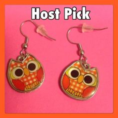 Owl Earrings! Super awesome owl earrings. These are Hypo-Allergenic and nickel free for all the ladies that have reactions to certain metals. These are perfect! I make these so I can make more than one pair if needed :) Jewelry Earrings