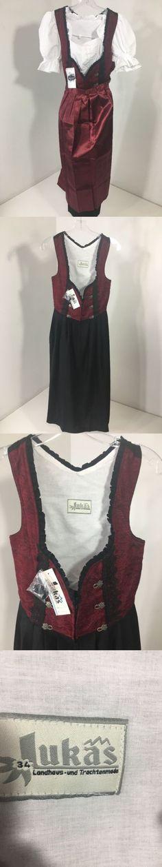 Dirndls 163143: Lukas 3Pc Women S Dirndl Dress Trachten Oktoberfest Outfit Eur Sz 34 Nwt -> BUY IT NOW ONLY: $59.99 on eBay!