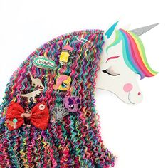 This is the most adorable unicorn hair clip holder…