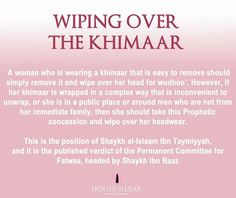 Wiping over the khimaar