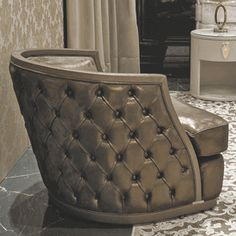 Signature Collection: Luxurious Italian Upholstered Armchair * Custom Made To Order Design * Request Quote